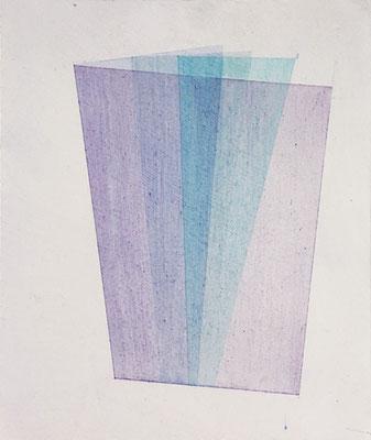 Raum//Bild Flourit(form) 2  | 2017,  Eitempera, Tusche auf MDF, 33 x 28 cm