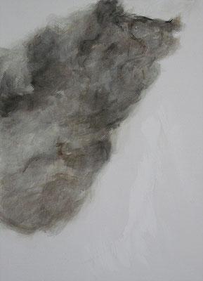 Katze Körper | 2018, Eitempera auf Leinwand, 110 x 79 cm