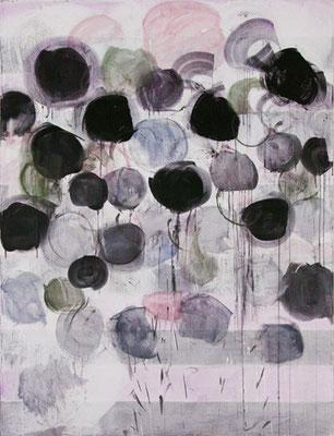 Die Birken / Schatten | 2010, Eitempera auf Leinwand, 252 x 189 cm