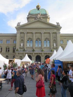 Auf dem Bundesplatz in Bern
