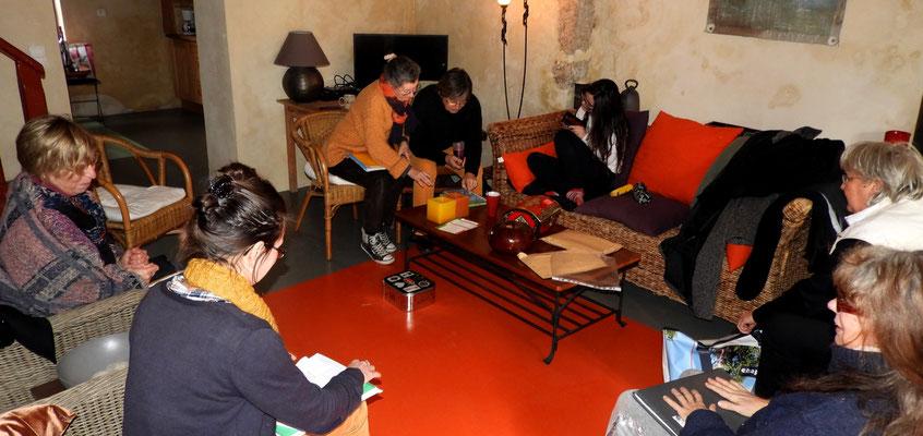 L'autre atelier d'écriture, l'après-midi.