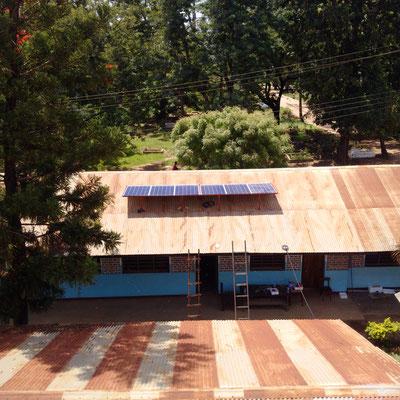 Die neue Solaranlage für das Benignis Center
