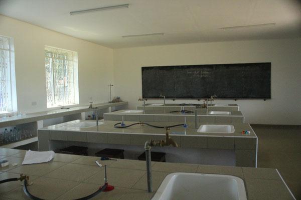 Das Schullabor von innen.
