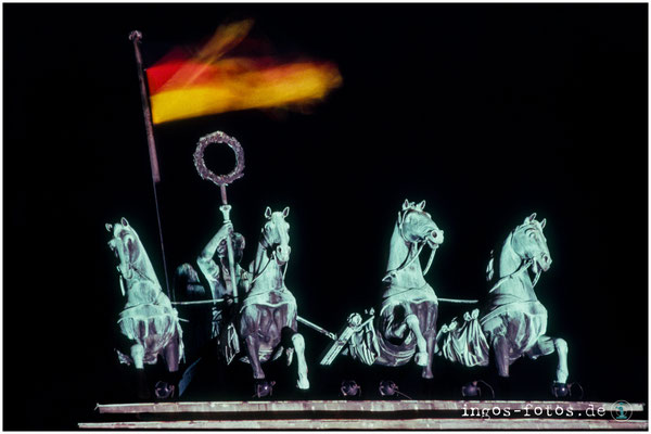 Quadriga, Brandenburger Tor, November 1989