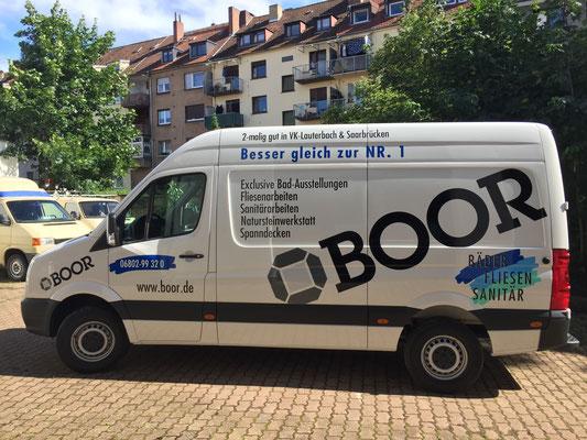 Fahrzeug Vollverklebung Fliesen Boor