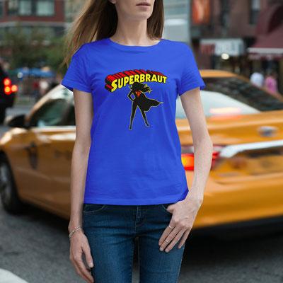 JGA Shirt Motiv Die Superbraut