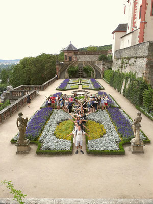 German Language Summer Course University of Würzburg, cultural programme,Marienberg Fortress, Princes' Garden