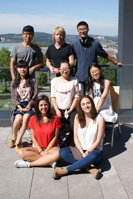 Learn German in Würzburg, German language course, group photo international students with teacher