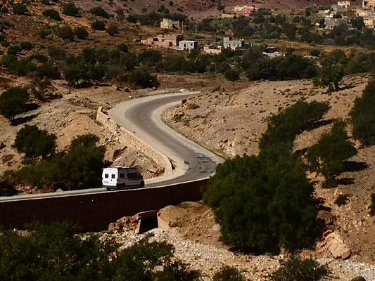 auf nach Agadir, Franz fährt ordentlich schnell