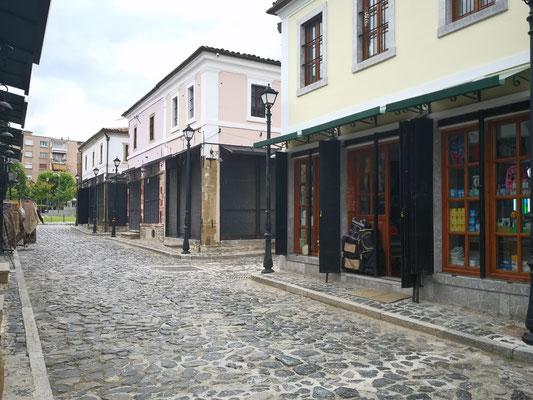 und die geschlossenen Gebäude des alten Bazars