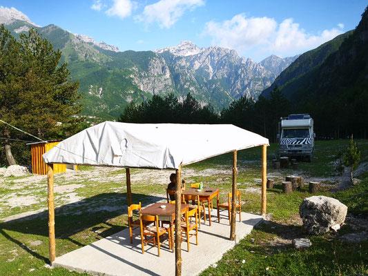 Auf dem Camping Krone