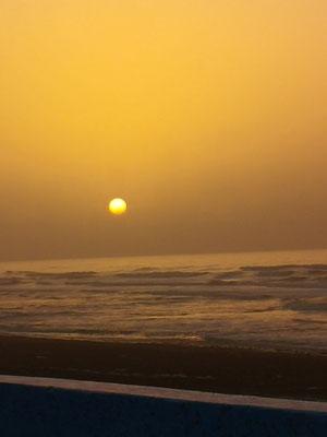pünktlich zum Sonnenuntergang