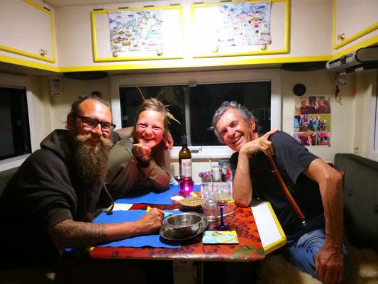 ein gelungener Abend mit Kürbissuppe und pakistanischer Vorspeise - danke an Janina und Parvis
