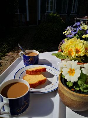 Gemütliche Kaffeepause in Gardenien