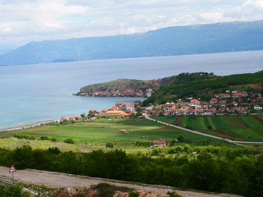Blick auf Lin am Ohridsee