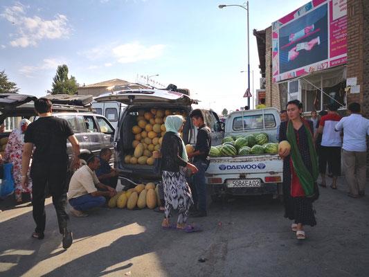 Auf dem Markt in Panjakent