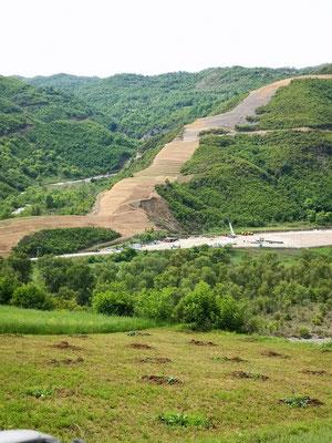 die Schneise von der neuen türkischen Erdgasleitung