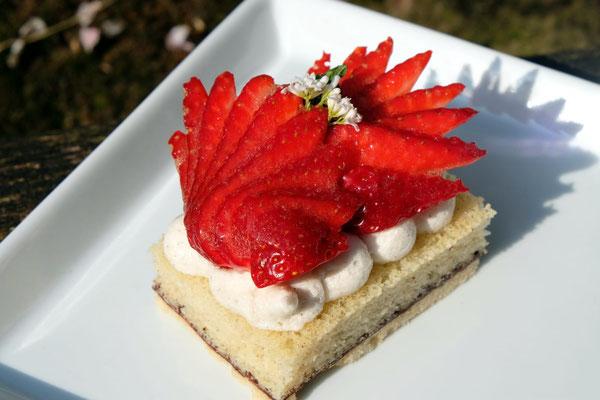 vegane Erdbeer - Torte