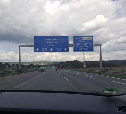 Auf dem Weg zur Messe nach Düsseldorf