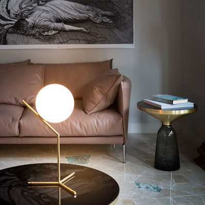 flos IC Lights T messign matt, silber Michael Anastassiades NEU Chrom, Glas, Messing, Metall, Stahl