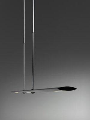 baltensweiler LET D 100 cm, 120 cm,  140 cm  silber oder schwarz drehbar verstellbar dimmbar LED höhenverstellbar