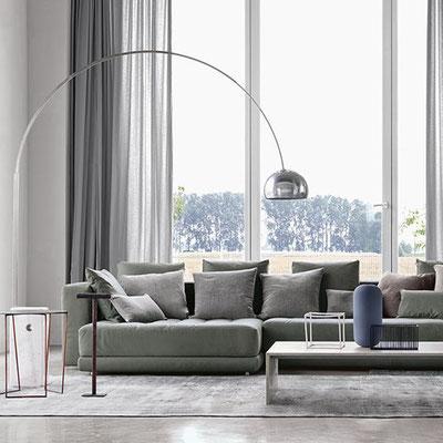 flos arco bogenleuchte designed by achille & pier castiglioni 1962 klassiker marmor