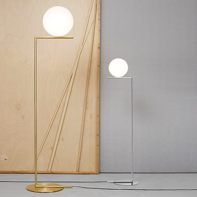 flos IC Lights F2 messign matt, silber Michael Anastassiades NEU Chrom, Glas, Messing, Metall, Stahl