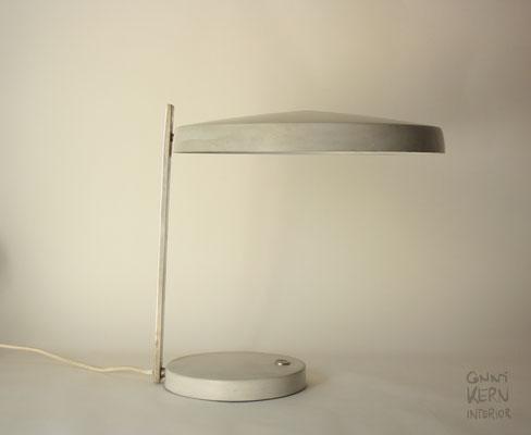 Hillebrand Schreibtischleuchte Modell 7440-211 grau vintage Lampe