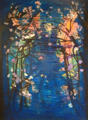 Blossoms, acrylic on canvas, 90 x 130 cm, 2011, sold
