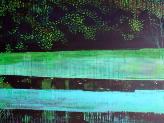 Shadow, acrylic on canvas, 150 x 10 cm, 2011, available
