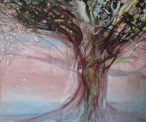 Tree, acrylic on canvas, 140 x 160 cm, sold