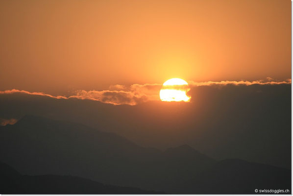 Einmal mehr: a beautiful sunset.