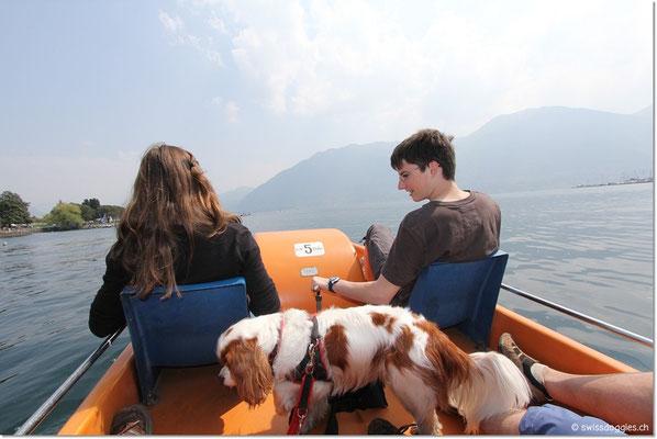 ... und Pedalospass auf dem See...