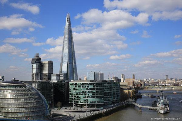 Aussicht von der Tower bridge