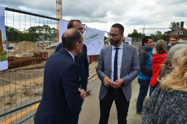 v.l.n.r.: Innenminister Markus Ulbig MdL und Patrick Schreiber MdL