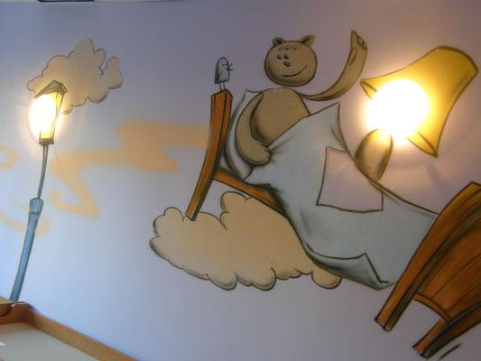 Оформление детского сада ДОУ роспись стен аэрография