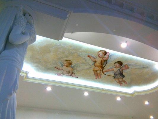 Роспись потолка масло дизайн квартиры
