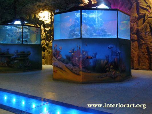 Роспись стен в морской тематике фото