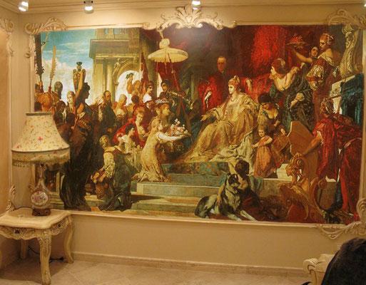 Классическая роспись в гостиной