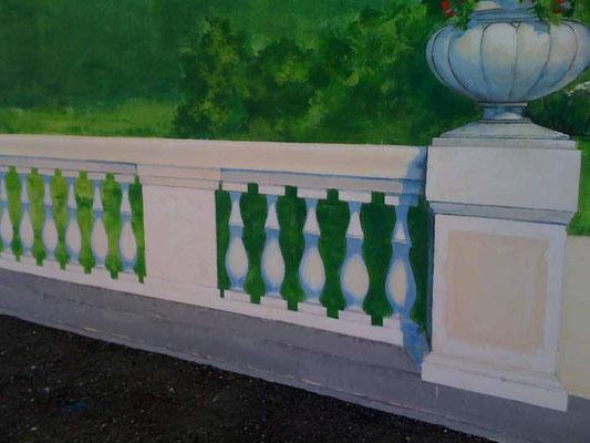 Дизайн фасада роспись стены