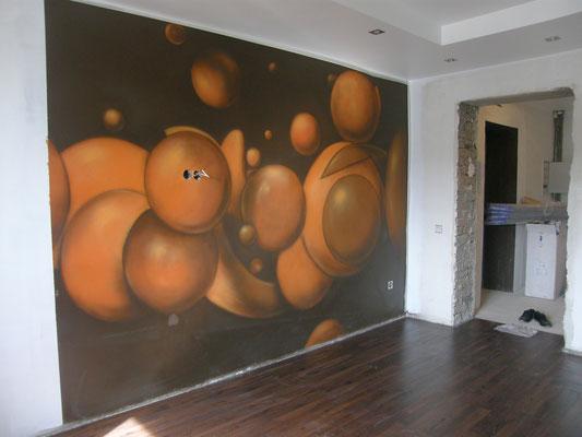 Дизайн детской аэрография роспись стены