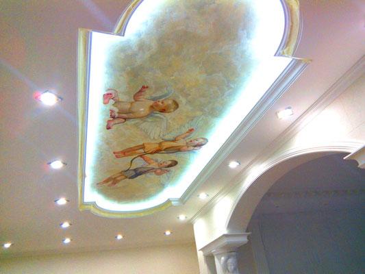 Классическая роспись потолка в квартире