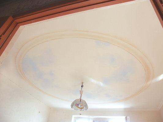 Роспись потолка небо облака фото