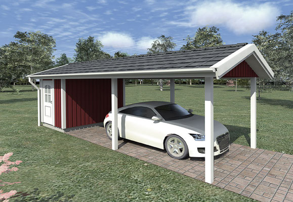 Berg Schwedenhaus Einzelcarport Garage