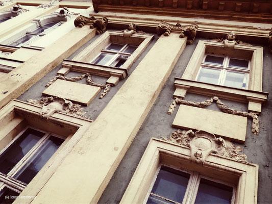 Barocke Fassade in der Charlottenstraße