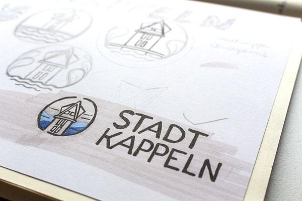 Logo Stadt Kappeln Skizze Auftragsbuch