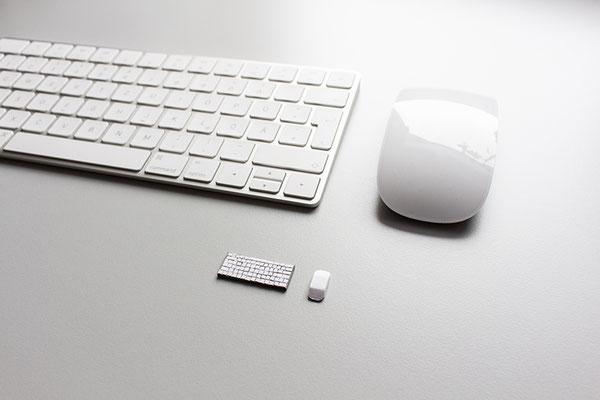 Papierillustration Papierbüro Tastatur Maus