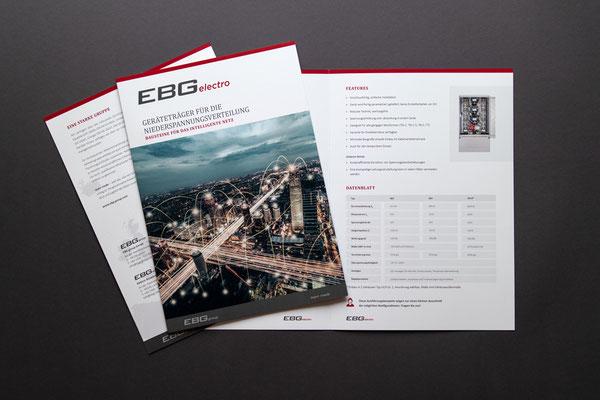 Gestaltung Unternehmensbroschüren EBG group GmbH