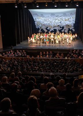 Bach bewegt!Tanz! Mozartrequiem. Bachakademie Stuttgart. Bühne: Maria Pfeiffer. Foto: Holger Schneider.