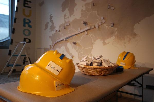 """Baustelle Europia"" - partizipative Kunstaktion beim Festival Panoptikum 2018 - Foto Maria Pfeiffer"